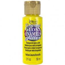 Акриловая краска премиум Americana Crystal Gloss Enamels Glitter 59мл  Желтый