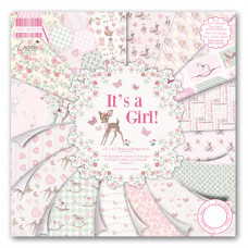 Набор бумаги для скрапбукинга 48 листов It's a Girl