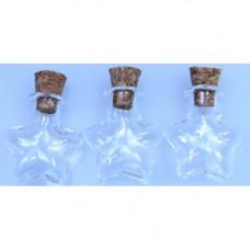 Декорат. изделия из стекла, бутылочки для скрапбукинга 3 шт. в наборе, (US-07)