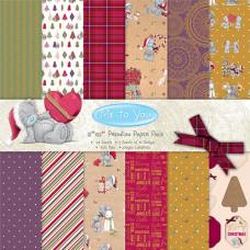 Набор бумаги для скрапбукинга 30*30см 48 листов Me To You Christmas