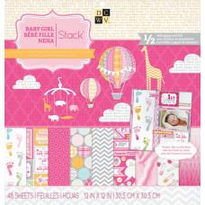 Набор бумаги для скрапбукинга BABY GIRL Stack