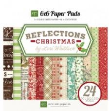 Набор бумаги для скрапбукинга 15*15 см 24 листа Reflections Christmas