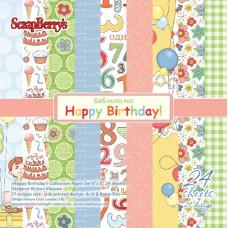 Набор бумаги С Днем Рождения!  24 листа