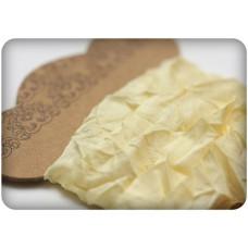Шебби ленточка, нежно-желтая, 10мм, 1м