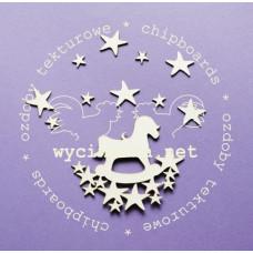Польский чипбор Лошадка со звездами