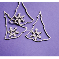 Польский чипбор елка и снежинки
