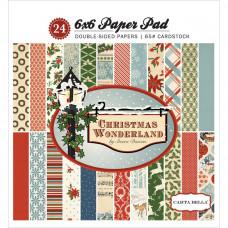 Набор бумаги для скрапбукинга Christmas Wonderland 15х15