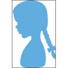 "Нож для вырубки ""Силуэт девушки с косами"""