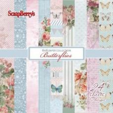 Набор бумаги для скрапбукинга 15х15 Бабочки