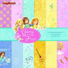 Набор бумаги для скрапбукинга 15х15 Подружки