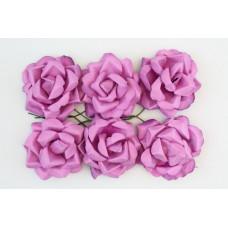 Кудрявые розы, 6 шт. 4см светло-фиолетовый