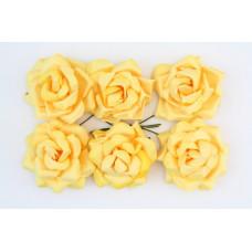 Кудрявые розы, 6 шт. 4см чайные