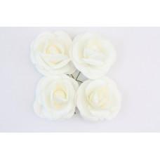 Розы, 4 шт. 5см белые