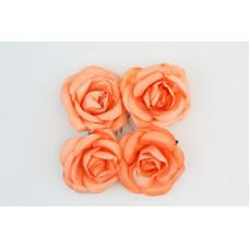 Розы, 4 шт. 5см шебби-розовые