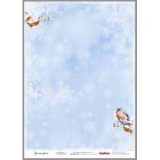 Карта для декупажа 32x45см Снегири
