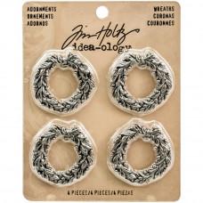 Металлические украшения Новогодние Antique Nickel Wreaths