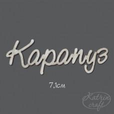 Чипборд Надпись Карапуз