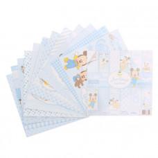 """Набор бумаги для скрапбукинга """"Любимый сыночек""""Микки Маус 14,5 х14.5"""