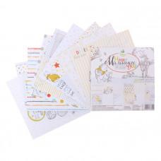 """Набор бумаги для скрапбукинга """"Наше Маленькое чудо"""" Медвежонок Винни 14,5 х14.5"""