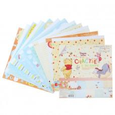 """Набор бумаги для скрапбукинга """"Счастье с пеленок"""": Медвежонок Винни 29,5 х 29,5"""