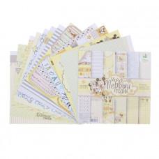 """Набор бумаги для скрапбукинга """"Мои первый годик"""": Микки Маус 29,5 х 29,5"""