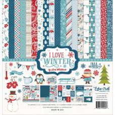 Набор бумаги I Love Winter 30x30