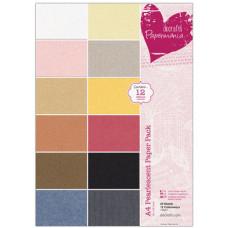 Набор бумаги для скрапбукинга, разноцветный перламутр, А4