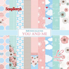Набор бумаги для скрапбукинга 15х15 Про Любовь