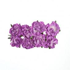 Кудрявые розы из бумаги СИРЕНЕВЫЕ, 8 шт