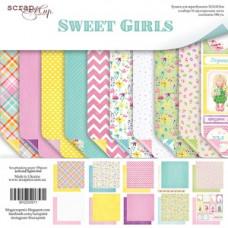Набор двусторонней бумаги 30х30 Sweet Girls