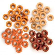 Люверсы цветные We R Memory Keepers 4 цвета - 60 шт - Orange