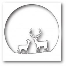 Нож для вырубки Deer Family Circle