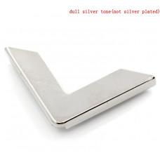 Уголок для альбома, серебряный, 30х30 мм