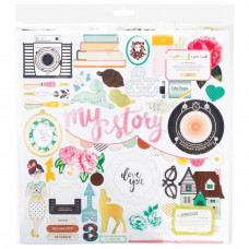 Чипборд Maggie Holmes Open Book Adhesive от Crate Paper
