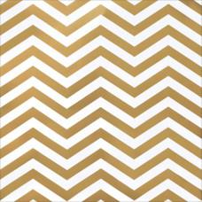 Лист кардстока с фольгированием Gold Foil Chevron от American Crafts