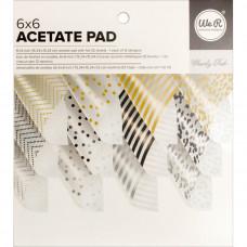 Набор ацетатных листов - Acetate Paper Pad - Clearly Posh - We R Memory Keepers - 15х15