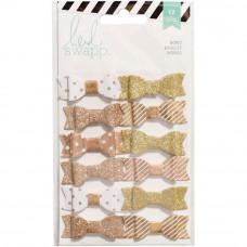 Набор декоративных бантиков от Heidi Swapp, Gold/White
