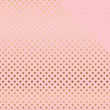 Лист бумаги с фольгированием  Light Pink W/Gold Light Mint W/Gold Paper от Echo Park