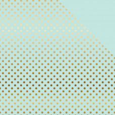 Лист бумаги с фольгированием  Light Mint W/Gold от Echo Park Paper