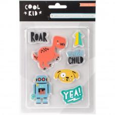 """Набор резиновых украшений """"Rubber Shapes"""" коллекции Cool Kid от Crate Paper"""