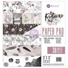 "Набор бумаги Rose Quartz Prima Marketing Double-Sided Paper Pad 12""X12"" 30/Pkg"