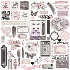 "Набор украшений Prima Marketing ""Rose Quartz Ephemera Cardstock Die-Cuts"""