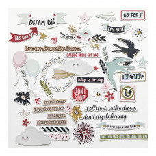 Набор декоративных элементов Dream Big Ephemera Cardstock Die-Cuts от Fancy Pants