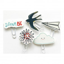 Набор декоративных элементов  Dream Big Die-Cut Paper Clips от Fancy Pants