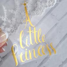 """Надпись из термотрансфера """"A little princess"""""""