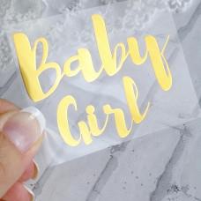 """Надпись из термотрансфера """"Baby girl"""""""