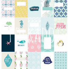 Набор карточек «Глубокое синее море»от Polkadot