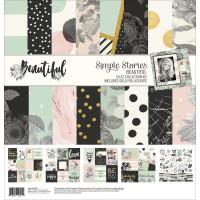 Набор бумаги 30*30 Beautiful от Simple Stories