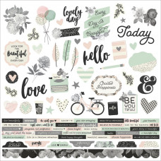 "Наклейки Beautiful  от Simple Stories Cardstock Stickers 12""X12"""