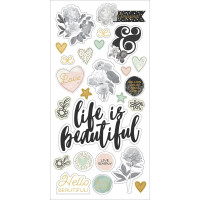 Набор чипборда   Beautiful от  Simple Stories